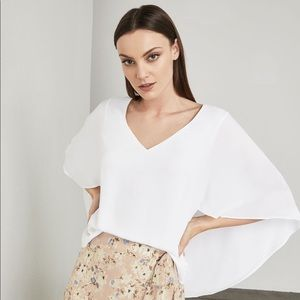 BCBGMaxazria Shannah Cape-Back Top